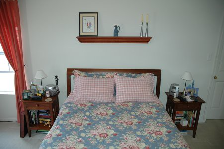 Bed - with the old linens