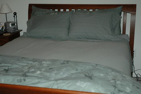 Bed - with the new linens