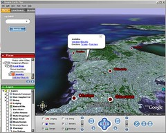 Blogwise on Google Earth