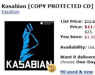 Amazon Copy Protected CD