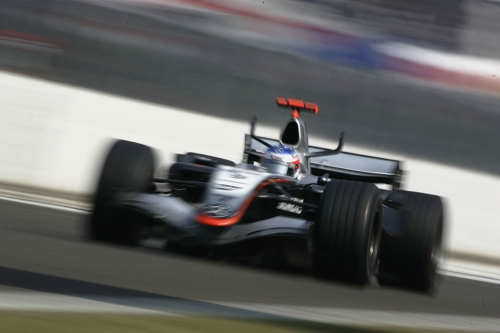 BUDAPEST, HUNGARY - JULY 31: Kimi Raikkonen of Finland and McLaren Mercedes in action during the Hungarian F1 Grand Prix at the Hungaroring on July 31, 2005 in Budapest, Hungary. (Photo by Paul Gilham/Getty Images)