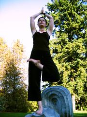 yoga at Van Dusen Gardens