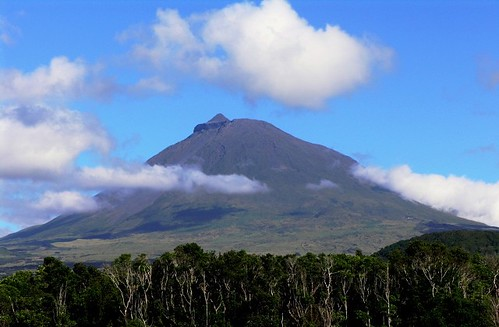 A montanha do Pico na tarde do dia 5 de Agosto