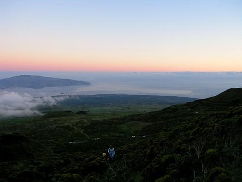 Os primeiros momentos da escalada, na madrugada do dia 6 de Agosto