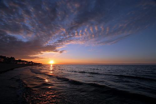 Coucher de soleil sur la mer le 1er août 2005