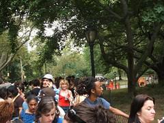 line at park
