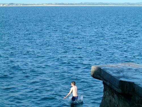 Aidan diving