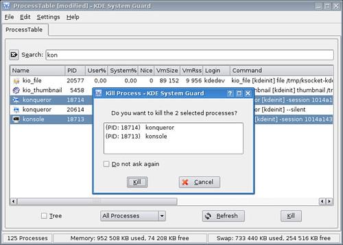 KDE 3.5 KSysguard