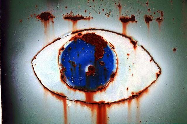 rusted eye