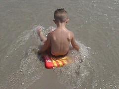 Payton in surf