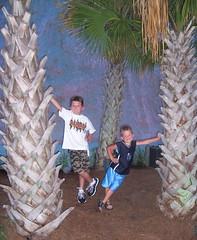 Boys outside Ripley's Aquarium