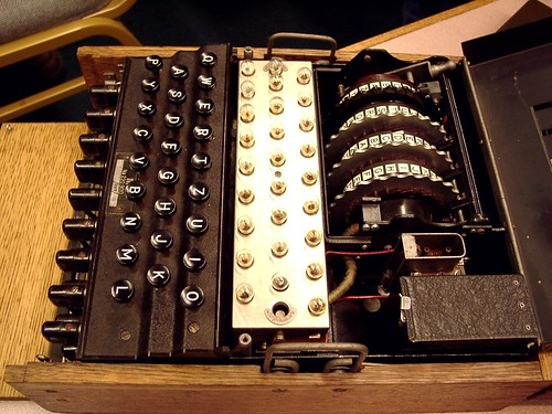 WW2 Encryption: Enigma German Machine - cover off | by Whiskeygonebad