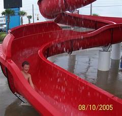Garrett having a blast at Myrtle Waves water park