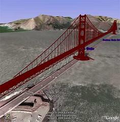 Golden Gate Bridge - 3D on Google Earth