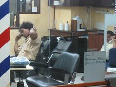 Barbers waiting