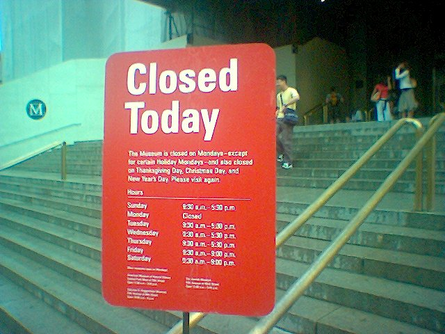 Closed on Mondays??