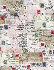 postcard fabric