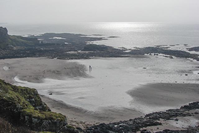 Beach Stroll On A Hazy Day