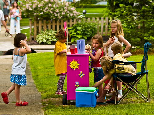 Lemonade stand, Chagrin Falls, Ohio, Memorial Day weekend 2007 | by Conlawprof