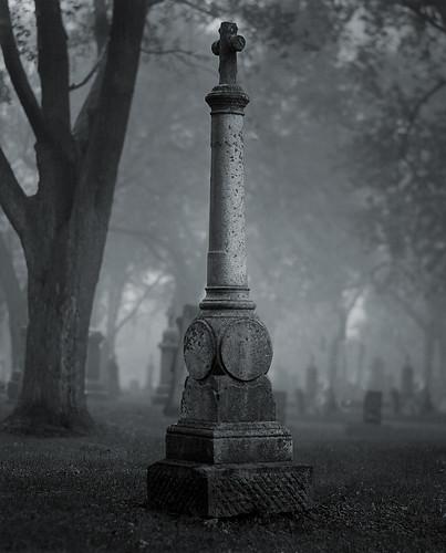 blackandwhite bw tree grave wisconsin death gloomy branches cemetary tomb tombstone gothic morbid doom gnarly 4x5 delta100 90mm crypt twisted ilford largeformat gnarled twisty portwashington portwashingtonwi