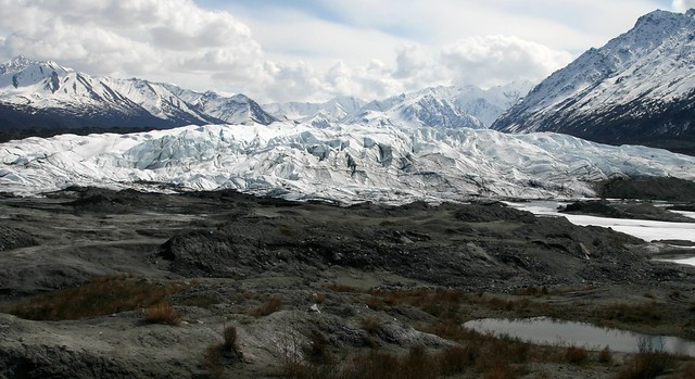 View of the Matanuska Glacier from the parking lot