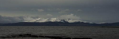 isleofarran island arran firthofclyde bleak water scotland ayrshire ayrshirenorth northayrshire weather mountains mountain goatfell snow capped