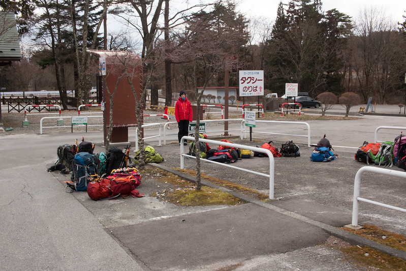中央アルプス 駒ヶ岳ロープウェイのバス乗り場