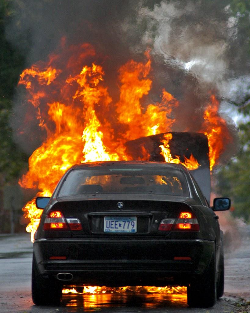 Bmw 325ci On Fire Tony Webster Flickr