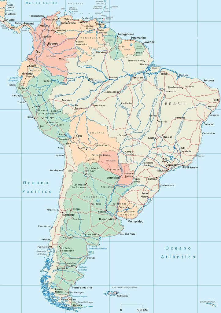 Mapa Da America Do Sul Mapa De America Del Sur Map Of Flickr