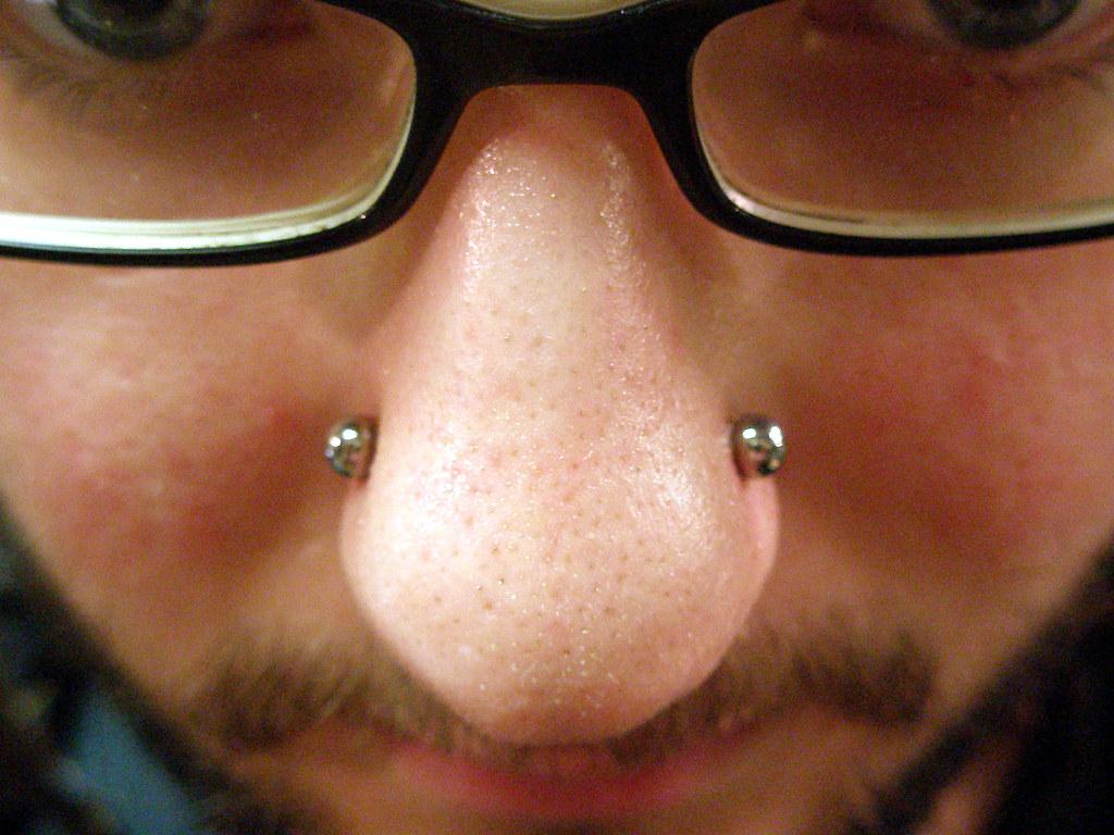 Nasallang Single Barbell In Three Holes Nostril Cartilage Flickr