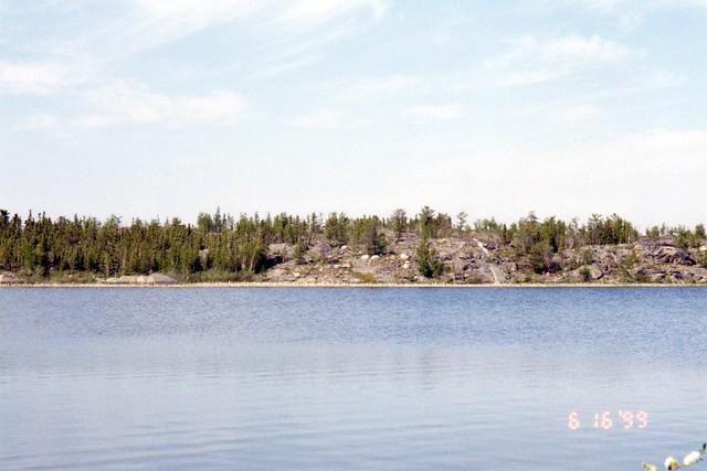 Island in Frame Lake