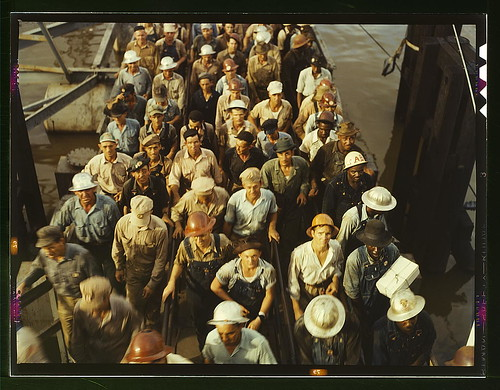 Workers leaving Pennsylvania shipyards, Beaumont, Texas  (LOC) | by The Library of Congress