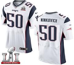 Nike Patriots #50 Rob Ninkovich White Super Bowl LI 51 Men's Stitched NFL New Elite Jersey