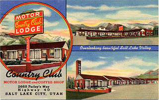 Country Club motel postcard, Salt Lake City, UT