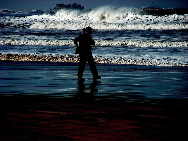 MON OCEAN.......UNE SILHOUETTE....