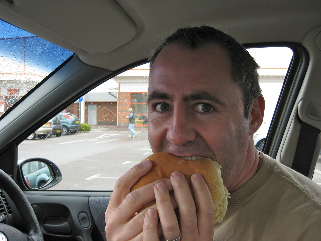 Image result for eating in car