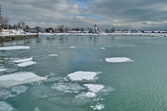 west humber marina in winter