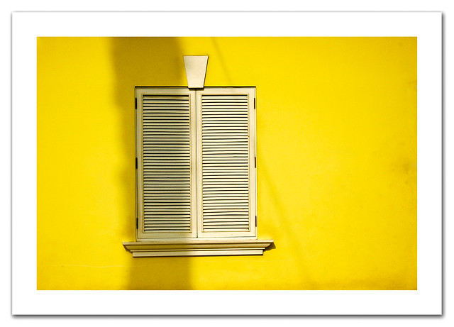 Just a plain old dirty yellow wall