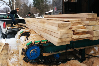 Tyler & Richie Loading Fresh Sawn Ash Boards | by goingslowly