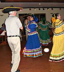 Dick trying out for Ballet Folklorico, El Fuerte, Mexico