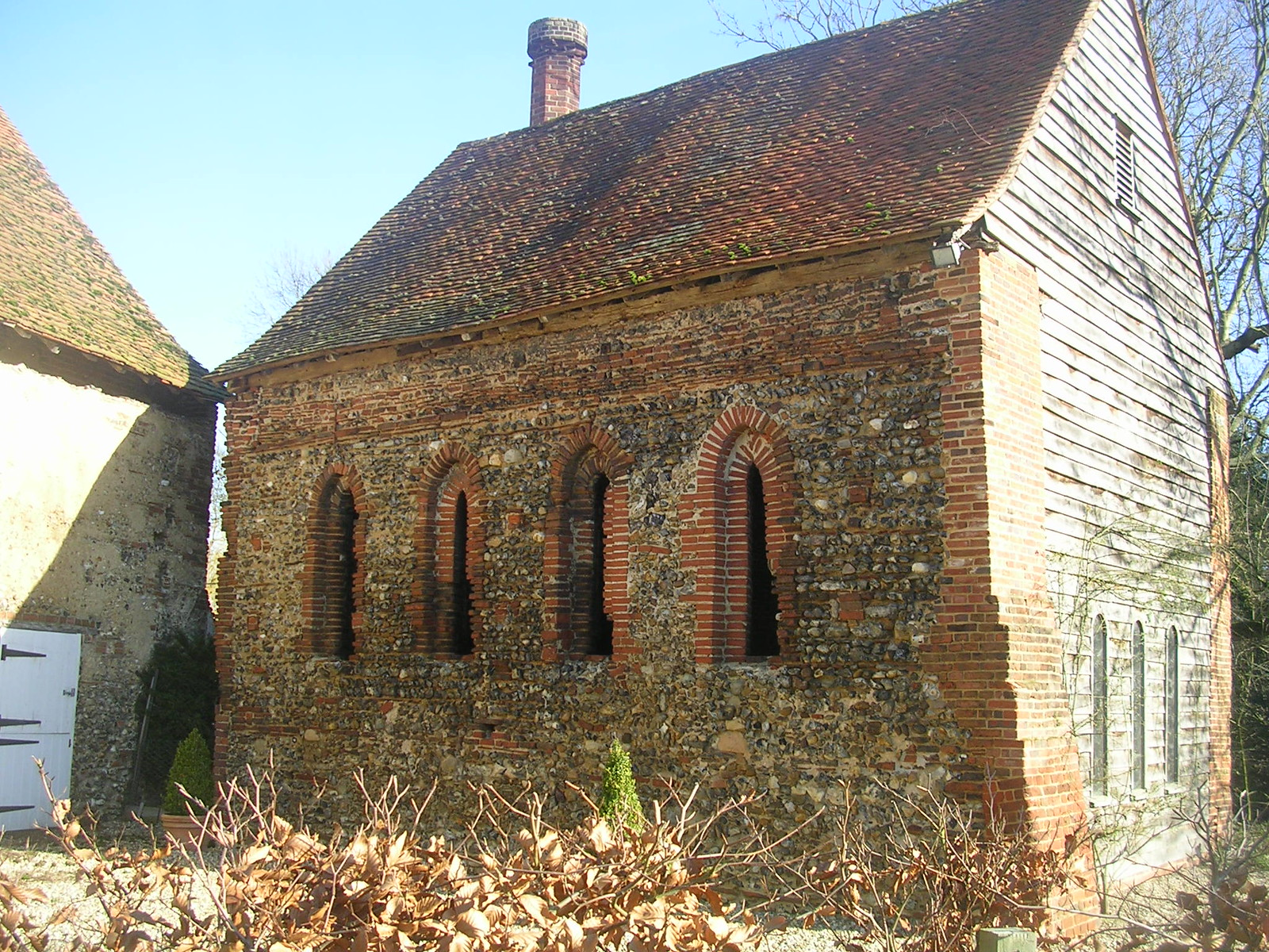 St Nicholas' chapel 13th century. Early example of British brickmaking. Kelvedon circular via Coggeshall