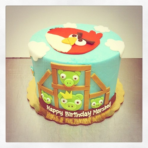 Angry bird birthday cake | by Polkadots (Olga)