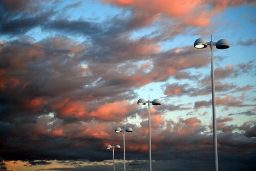 sunset sky clouds georgia lights nikon streetlights athens uga parkingdeck may3 diamondclassphotographer flickrdiamond d40x