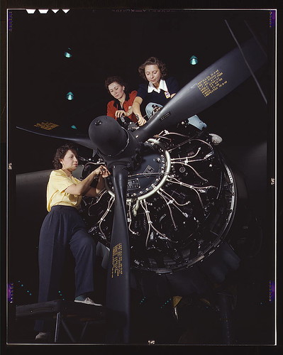 Women at work on C-47 Douglas cargo transport, Douglas Aircraft Company, Long Beach, Calif.  (LOC) | by The Library of Congress