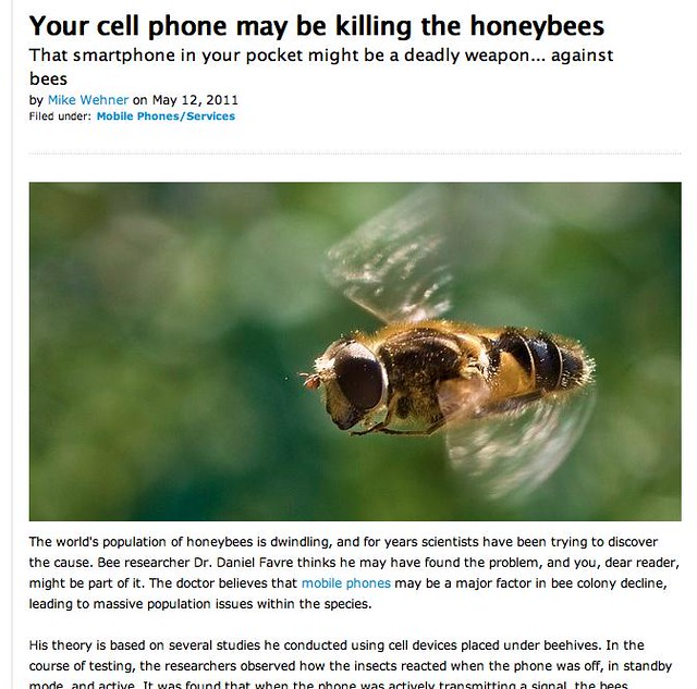 Double FAIL on the bee/cell phone story