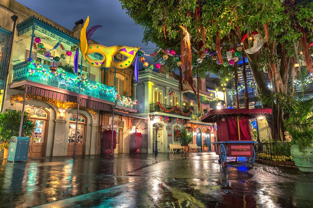 Disneyland During Christmas.New Orleans Square At Disneyland During Christmas Disney