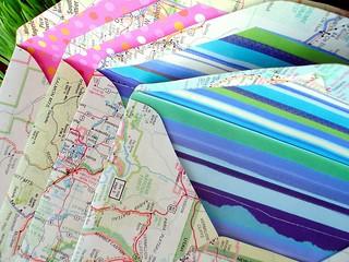 New map envelopes   by Tara Anderson