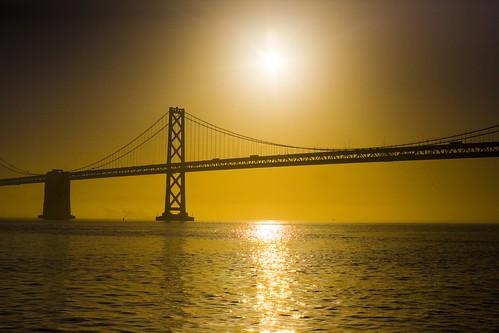 sanfrancisco california city bridge usa topf25 sunrise unitedstates 10 unitedstatesofamerica fav20 baybridge fav30 fav10 fav25 superfave