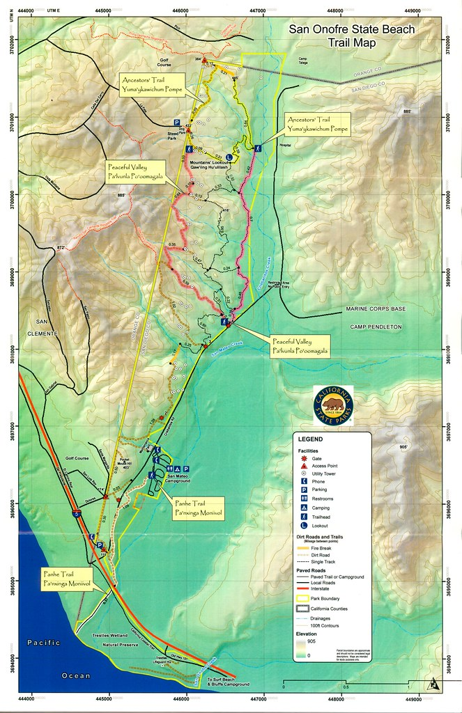 San Onofre State Beach Trail Map | Help save Panhe and San O ... on san clemente state beach rv, sunset state beach camping map, carpinteria state beach camping map, san clemente beach camping sites, gaviota state beach camping map, san clemente beach campground map, lake perris camping map, camping san onofre san mateo map, doheny beach camping map, camp pendleton san onofre beach map, san clemente camping site in san mateo map, emma wood state beach camping map, silver strand camping map, sequoia national park camping map,