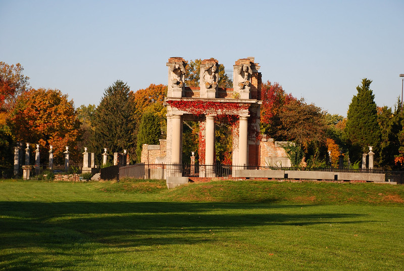 The ruins at Holliday Park